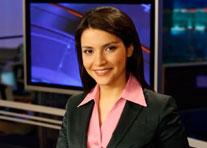 دوشیزه افغان به صفت نطاق تلویزیون دولتی روسیه ایفای وظیفه میکند